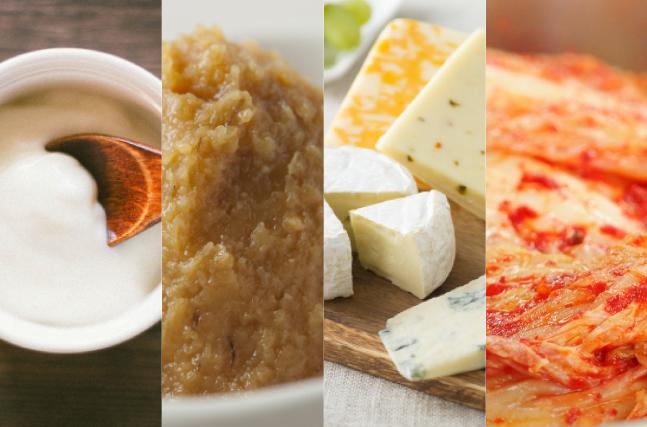 ヨーグルト、味噌、チーズ、キムチ