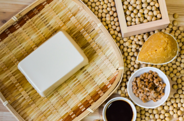 大豆を使用した食品や発酵食品