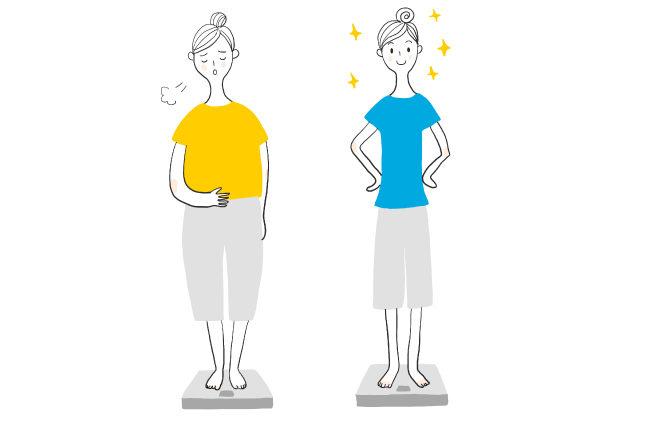 食べて太る人と食べても太らない人
