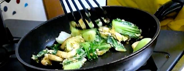 チンゲン菜の炒め料理