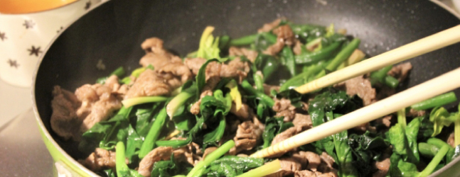 ほうれん草の炒め料理