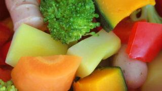 色とりどりの温野菜