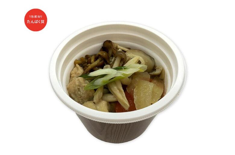 タンパク質が摂れる鶏とキノコの和風スープ